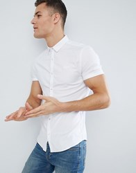 Superdry Short Sleeve Oxford Shirt In White