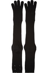 Maison Martin Margiela Wool Gloves Black