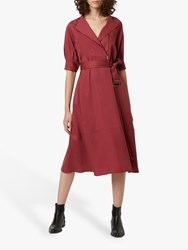 French Connection Clarita Shirt Dress Rhubarb