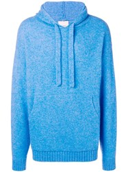 Laneus Knitted Hoodie Blue