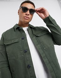 New Look Utility Jacket In Dark Khaki Green