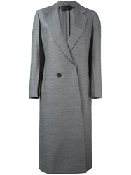 Calvin Klein Collection Single Breasted Coat Grey