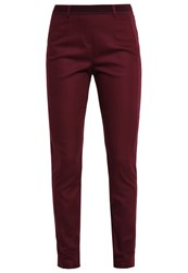 Comma Trousers Cranberry Dark Red