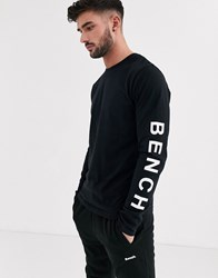 Bench Long Sleeve Top With Vintage Font In Black