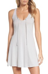 Naked Women's Tie Neck Chemise Soft Gray