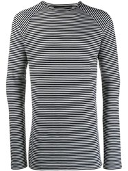 Haider Ackermann Striped Sweatshirt White