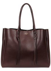 Lanvin Large Burgundy Leather Tote