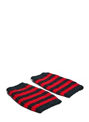 Gucci Striped Knit Hand Warmer Gloves Black