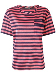 Odeeh Striped T Shirt Red
