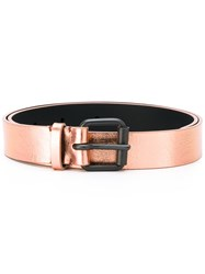 Haider Ackermann Metallic Belt Women Leather S Pink Purple