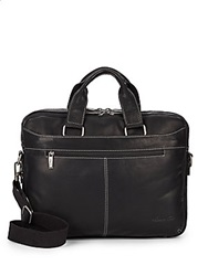 Kenneth Cole Crumple Leather Briefcase Black