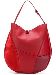 Carmina Campus Nina Hobo Tote Bag Red