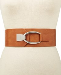 Inc International Concepts Interlocking Hook Stretch Belt Created For Macy's Cognac