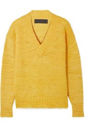 The Elder Statesman Cashmere Sweater Yellow