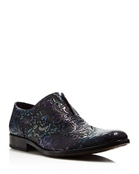 Robert Graham Vanderbilt Paisley Laceless Wingtip Oxfords Black