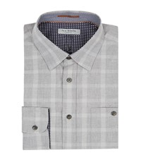 Ted Baker Check Shirt Male Grey