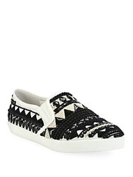 Alice Olivia Ava Beaded Skate Sneakers Black