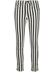Nili Lotan Striped High Rise Skinny Jeans 60