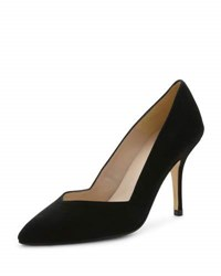 Andre Assous Steph Suede Pointed Toe Pump Black
