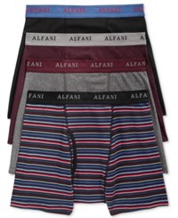 Alfani Men's 4 Pack. Cotton Boxer Briefs Only At Macy's Burgundy