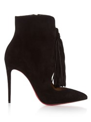 Christian Louboutin Otto Suede Tassel 100Mm Ankle Boots