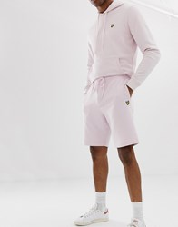 Lyle And Scott Logo Sweat Short In Pink