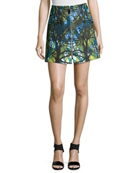 Risto Zipper Front Mini Skirt Doppio Greenwoods