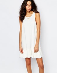 Baandsh Desir Drop Waist Dress With Frill Hem Cream