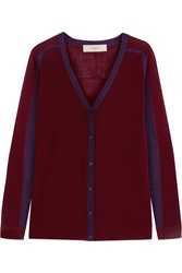 Pringle Cashmere And Silk Blend Cardigan Red