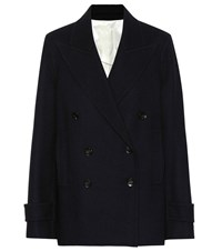 Joseph Optima Wool Blend Peacoat Blue