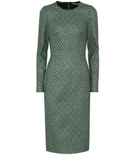 Dolce And Gabbana Brocade Dress Green