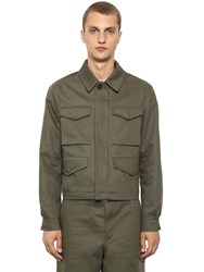 Alexander Mcqueen Cover Cotton Gabardine Jacket Military Green