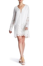 Liberty Garden Crochet Lace Border Dress White