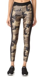 Koral Military Camo Hammer Cropped Leggings Camo Black