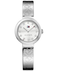 Tommy Hilfiger Women's Sophisticated Sport Stainless Steel Bangle Bracelet Watch 28Mm 1781714 Silver