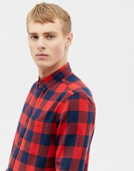 Burton Menswear Shirt In Red Check