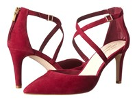 Cole Haan Juliana Ankle Strap Pump 75 Cabernet Suede Women's Slip On Dress Shoes Red