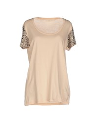 Guess Topwear T Shirts Women Beige