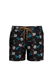 Thorsun Bird Print Titan Fit Swim Shorts Black