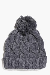 Boohoo Knit Bobble Beanie Charcoal