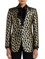 Saint Laurent Star Jacquard Blazer Black Gold