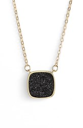 Women's Elise M. 'Athena' Cabochon Pendant Necklace Black