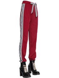 House Of Holland Tricot And Gingham Track Pants