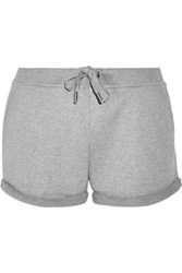 Alexander Wang T By Cotton Terry Shorts Gray