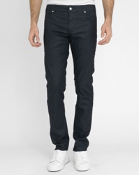 Billtornade Blue Matte Coated W1 Slim Fit Jeans