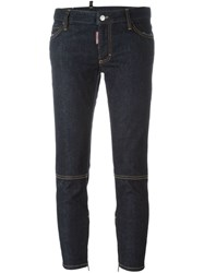 Dsquared2 A Skinnya Medium Waist Cropped Jeans Blue