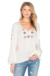 Sanctuary Freya Boho Blouse White