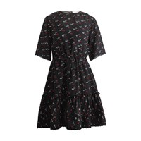 See By Chloe Dress In Jacquard Multicolor Black 1