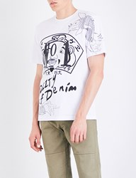 Evisu Graphic Print Cotton Jersey T Shirt White