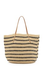 Hat Attack Twisted Stripe Tote Navy Stripe